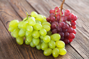 Na imagem, uvas.