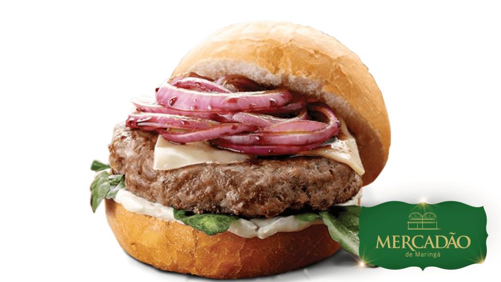 Casa da Mãe Joana - Orgasmatron: hamburguer 150g bovino + suíno marinado no Jack Daniels, acompanhado de cebola caramelizada na Coca-Cola.