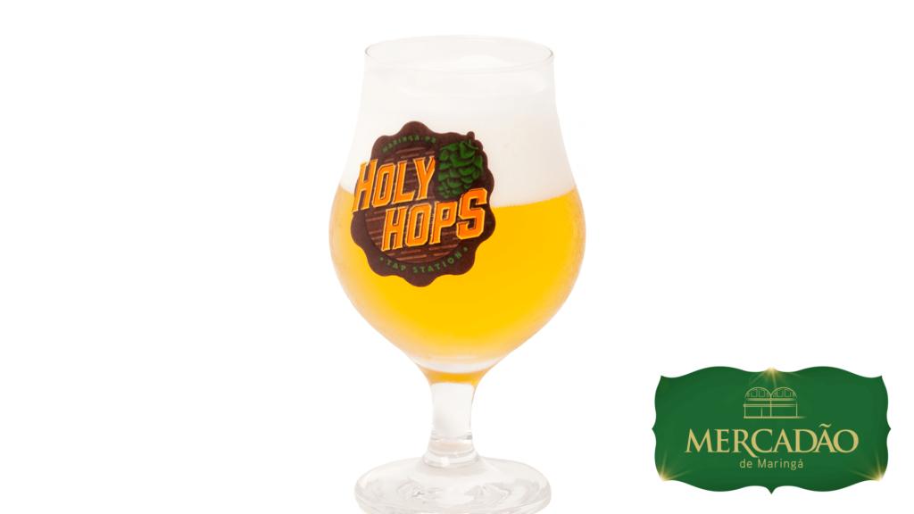 Holy Hops - Copo de cerveja.