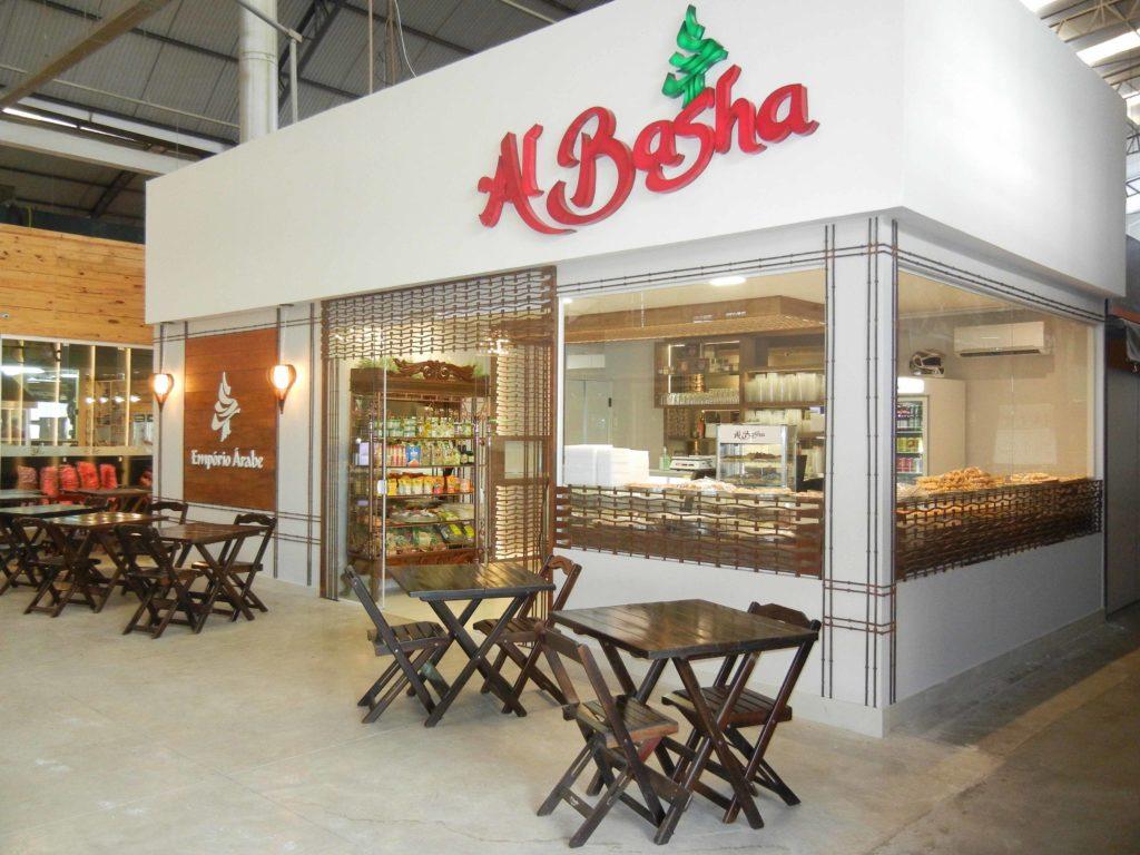 Empório árabe Al Basha, aqui no Mercadão.
