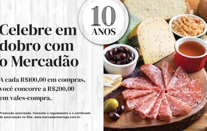 Mercadão celebra 10 anos com R$ 10 mil em vale compras